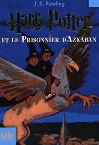 Couverture du troisième tome de la saga magique Harry Potter de J. K. Rowling intitulé Harry Potter et Le Prisonnier d'Azkaban